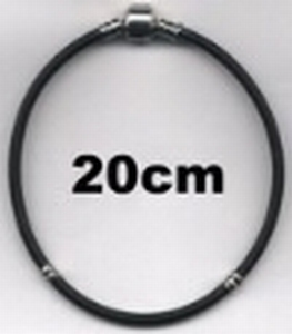 Armband van rubber 20 cm