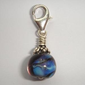 Blue silvr glass