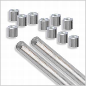 Beadhoppers glas eindkit met twee 4 mm Mandrellen