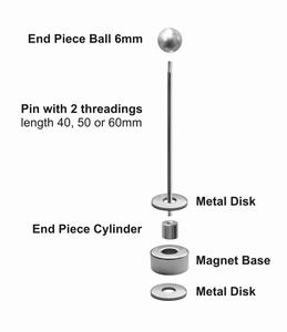 Magneet kit met 40 mm pin