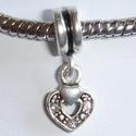 Pendant open heart with white zirconia's