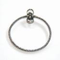 Zilveren ornament, rond, gedraaid