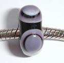 Zwart met paars-zwarte kringen, vierkant