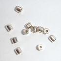 Zilveren spacer cilindertje