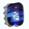 Dark blue silver glass