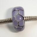 Zwart met paarse mozaiek