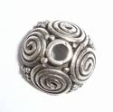 Zilveren kralenkapje met spiralen