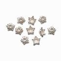 Zilveren kralenkapje stervormig, glanzend