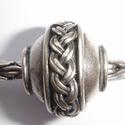 Zilveren kraal met vlecht, antiek