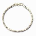 Sterling silver bracelet borobudur shiny 22 cm