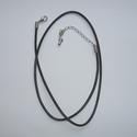 J00350B - Halsketting koord zwart met verlengstukje