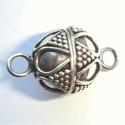 Zilveren magneetsluiting met bogen en nopjes