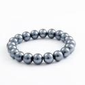 Pearl bracelet grey-blue