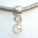 Zilveren hanger met preciosa kristal