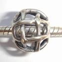 Zilveren kraal gevlochten, antiek
