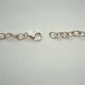 Zilveren anker ketting 6 x 8,3 mm, karabijnsluiting