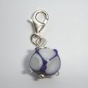 Kobaltblauw met witte vierkanten