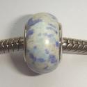 Natuursteen, blauw met wit