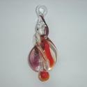 Glashanger in transparant, rood en paars