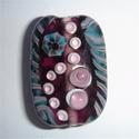 Focal in paars/teal gestreept, paars en roze stippen