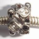 Cilinder met vierkante witte zirkonia's en dotjes