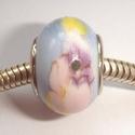 Ceramic flowers blue, pink, purple, yellow