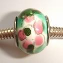 Porselein met bloemen in groen/wit/roze/geel
