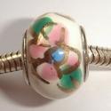 Porselein met bloemen in wit/groen/roze/blauw