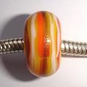 White, goldstone, yellow, orange striped