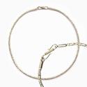 Zilveren ketting borobudur glanzend, 50 cm