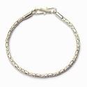 Sterling silver bracelet Singapudu, shiny 22 cm