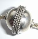 Zilveren kraal met spirsaaltjes, antiek