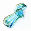 Glashanger in blauw, goud en groen