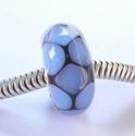 Transparant blauwe slang