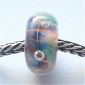 Zilverglas met luchtbellen 1