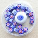Murrini's in rood, lichtblauw en kobalt
