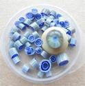 Murrini with cobalt, blue and raku