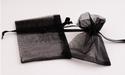 Organza cadeauzakje effen zwart