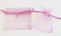 Organza cadeauzakje effen roze