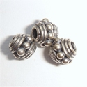 Sterling zilveren kraaltje met nopjes