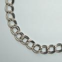 Double link nickel chain 7 x 8 mm, 1 meter