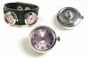 Popper - button watch pink/lila