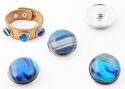 Popper - button dichroic pink blue
