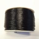SK01 - Satijn koord zwart, 5 meter
