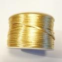 SK37 - Satijn koord goud kleur, 5 meter